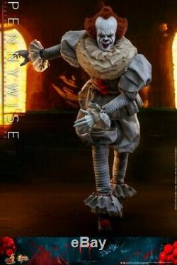 16 Scale Hot Toys HT MMS555 Bill Skarsgard Pennywise Solider Figure Full Set
