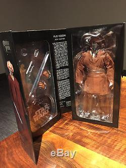 16 Scale Sideshow Star Wars Plo Koon Jedi Master Figure Signed by Dave Filoni