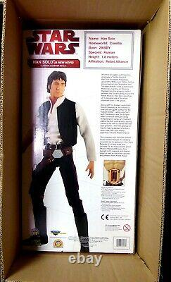 19 Han Solo Action Figure Mos Eisley 1/4 Scale Movie Sounds New 2010 Star Wars