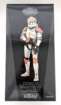 2011 Sideshow Hot Toys 1/6 Scale 12 Clone Commander Cody Figure Star Wars