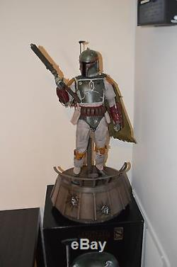HOT TOYS STAR WARS BOBA FETT 1/4 SCALE EXCLUSIVE 18 FIGURE SIDESHOW QS003