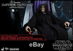 Hot Toys Emperor Palpatine Deluxe Version 1/6 Scale Figure-FREE SHIPPING IN US