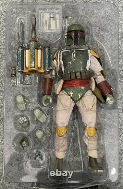 Hot Toys Exclusive Boba Fett Deluxe Version Sixth Scale Figure RARE