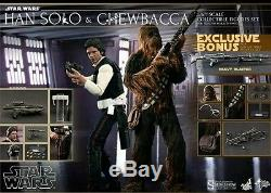 Hot Toys MMS263 HAN SOLO & CHEWBACCA Set 16 scale 12 Star Wars Figures