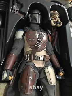 Hot Toys Mandalorian 16 Scale Figure Tms007 / Used With Shipper Durasteel