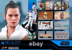 Hot Toys Rey and D-O Star Wars 1/6 Scale Figure Set The Rise of Skywalker MMS559