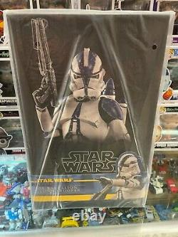 Hot Toys Star Wars 501ST BATTALION CLONE TROOPER 1/6 Scale Figure TMS022 NEW