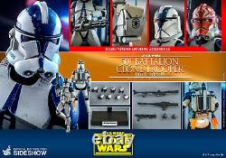 Hot Toys Star Wars 501ST BATTALION CLONE TROOPER Deluxe Figure 1/6 Scale TMS023