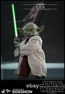 Hot Toys Star Wars Attack of the Clones YODA Action Figure 1/6 Scale MMS495