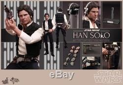 Hot Toys Star Wars Han Solo 1/6 Scale Figure A New Hope MMS261 New Sealed US