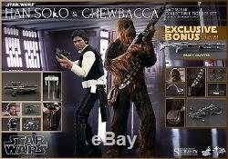 Hot Toys Star Wars Han Solo And Chewbacca 1/6 Scale Figure Exclusive Set MMS 263