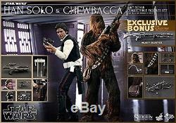 Hot Toys Star Wars Han Solo and Chewbacca 1/6 Scale Figure Set