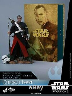 Hot Toys Star Wars MMS403 Rogue One Chirrut Sixth Scale Figure Rare deluxe versi