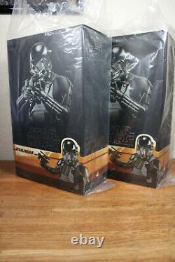 Lot of 2 Hot Toys The Mandalorian Death Trooper 1/6th Scale Collectible Figure