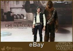 NEW Hot Toys Star Wars Han Solo and Chewbacca 1/6 Scale Figure Set from Japan