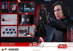 New In Box! Hot Toys Star Wars Last Jedi Kylo Ren Sixth Scale Figure