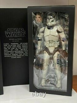 RARE Star Wars Sideshow Clone Troopers Echo and Fives (1/6 Scale)