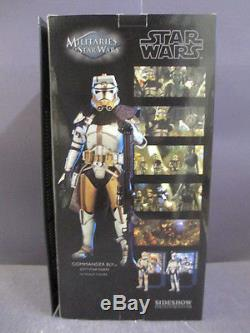 SIDESHOW EXCLUSIVE MILITARIES OF STAR WARS COMMANDER BLY 16 SCALE FIGURE MIB