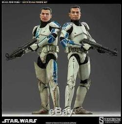 SIDESHOW STAR WARS CLONE TROOPERS ECHO AND FIVES 1/6 SCALE 12 FIGURE 100201 NEW