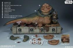 SIDESHOW STAR WARS, JABBA THE HUTT AND THRONE (DELUXE) 1/6 scale figure, NEW
