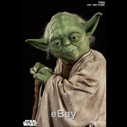 SIDESHOW Star Wars Yoda Life-Size 11 Scale Figure Statue NEW