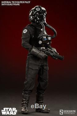 SIDESHOW TOYS STAR WARS IMPERIAL TIE FIGHTER PILOT SIXTH SCALE FIGURE