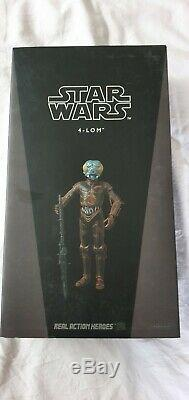 STAR WARS 4-Lom 1/6th Scale Action Figure Sideshow Medicom NEW SuperRare