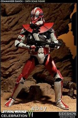 Sideshow 1/6 Scale Star Wars Clone Commander Ganch Figure. VERY RARE
