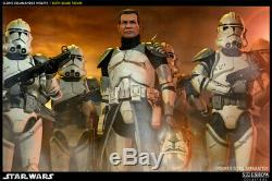 Sideshow 1/6 scale Militaries of Star Wars Clone Commander Wolffe 12 figure NM