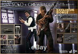 Sideshow Hot Toys Star Wars HAN SOLO & CHEWBACCA Exclusive Set 1/6 Scale Figure