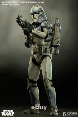 Sideshow Star Wars 104th Battalion Wolfpack Clone Trooper 1/6 Scale Figure New