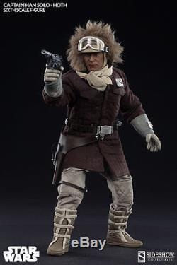 Sideshow Star Wars Captain Han Solo Hoth 16 Scale Figure MIB Brown Coat Version