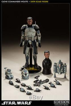 Sideshow Star Wars Clone Commander Wolffe 1/6 Scale Collectible Figure NEW
