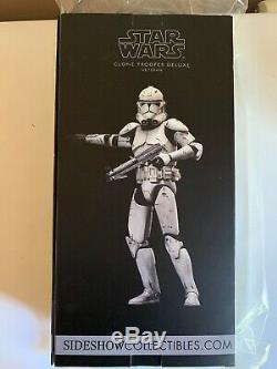 Sideshow Star Wars Clone Trooper Deluxe Veteran Sixth Scale Figure Hot Toys