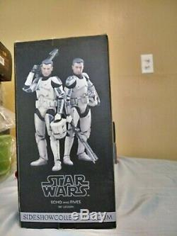 Sideshow Star Wars Clone Troopers Echo And Fives 1/6 Scale 12 Figure Set