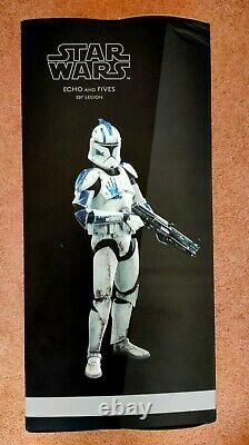 Sideshow Star Wars Clone Troopers Echo & Fives 1/6 Scale 2 Figure Set Boxed RARE