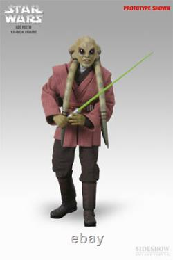Sideshow Star Wars Kit Fisto 1/6 Scale 12 In Action Figure 2106 New U. S