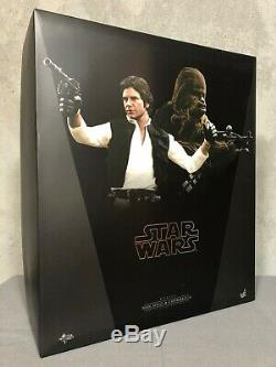 Star Wars Episode IV Hot Toys MMS263 Han Solo & Chewbacca 1/6 scale figures