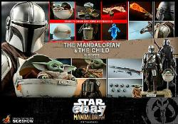 Star Wars HOT TOYS The Mandalorian and Child Deluxe TMS015 1/6 Scale Figure Set