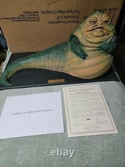 Star Wars JABBA THE HUTT 1/6 Scale Statue Figure with COA Hot Toys Sideshow MIB