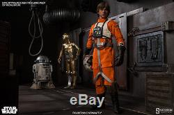 Star Wars Luke Skywalker Red Five X-wing Pilot Sideshow Collectibles 1/6th Scale