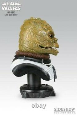 Star Wars Sideshow Life Size BOSSK 11 Scale Statue Figure Bust Bounty Hunter