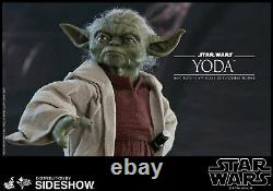 Star Wars YODA Attack of Clones HOT TOYS 1/6 Scale Figure MMS495 SHIPS FROM USA